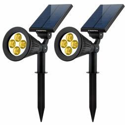Solar Lights 2in1 Solar Powered 4 LED Adjustable Spotlight W