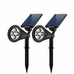 Solar Lights URPOWER 2in1 Waterproof 4 LED Solar Spotlight A