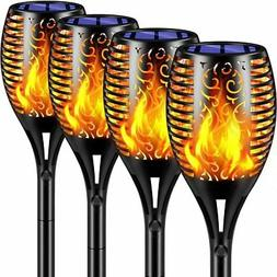TomCare Solar Lights 2nd Version Flickering Flame Solar Torc