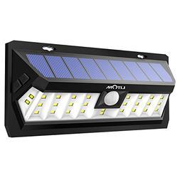 Litom Solar Lights Outdoor 30 LED, Adjustable Lighting Time