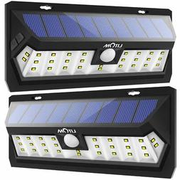 Litom Solar Lights Outdoor 30 LED, Adjustable Lighting Time