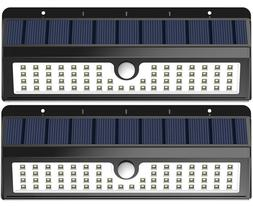 Lemontec Solar Lights, 62 LED Wall Light Outdoor Security Li