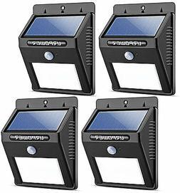 Solar Lights 8 LED Wireless  Motion Sensor Outdoor Light 4 P