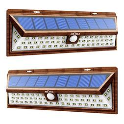 LITOM 54 LED Solar Lights Outdoor, Super Bright Wide Angle S