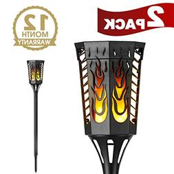 House Day Solar Lights 2 Pack,Dancing Flickering Flames Out