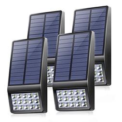 Solar Lights Outdoor 4 Pack - XINREE 15 LED Super Bright Sol