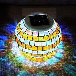 Solar Lights, SOLMORE LED Color Changing Solar Table Lights
