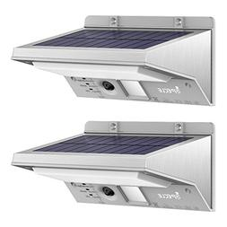 Solar Lights Outdoor, iSPECLE 2 Pack Stainless Steel Wireles