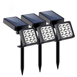Solar Lights Outdoor, 9-LED Solar Spotlights - Waterproof So