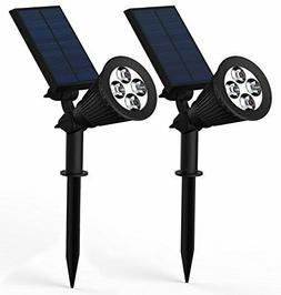 Solar Lights Black Lemon Waterproof 4 LED Spotlight Garden O