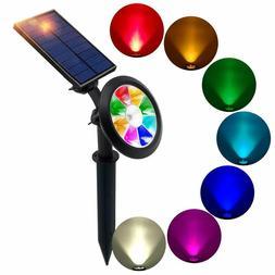 Solar Lights Color Changing Solar Spotlights Outdoor Multi C