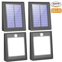 Mulcolor 4 Pack Solar Lights, Brightest 30 LED Solar Motion