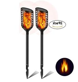 Garden Solar Tiki Torch Light, Dancing Flame Light,Wireles