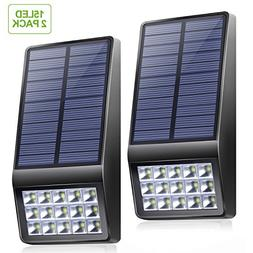 Solar Lights Outdoor - XINREE 15 LED Solar Powered Lights DI