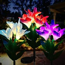 Solar Lights IP65 Waterproof Outdoor Multi-Color Changing LE