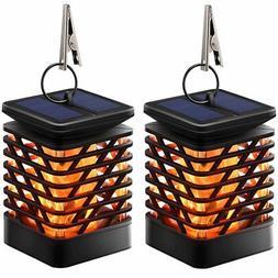 Solar Lanterns Lights Dancing Flame Outdoor Hanging Decorati