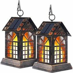 TomCare Solar Lights Metal Dancing Flame Solar Lantern Outd