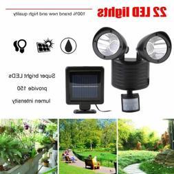 Solar Lights Motion Sensor Double Spotlights 22LED Outdoor D