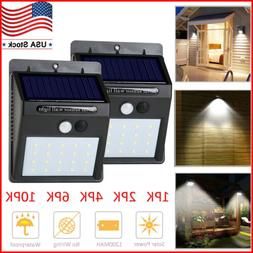 Solar Lights Motion Sensor Wall Light Outdoor Waterproof Gar