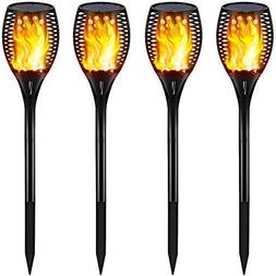 Gold Armour Solar Lights Outdoor Upgraded - Flickering Flame
