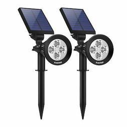 Nekteck Solar Lights Outdoor, 2-in-1 Solar Spotlights Powere