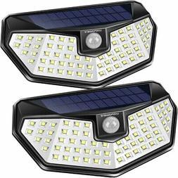 URPOWER Solar Lights Outdoor, 3 Modes Motion Sensor Large, C