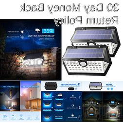 LITOM Solar Lights Outdoor, 40 LED Wireless Wide Angle Motio