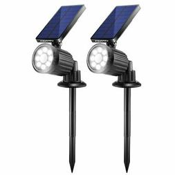 2 Pack Solar Lights Outdoor Spotlight Waterproof Motion Sens