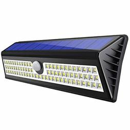 AMIR Solar Lights Outdoor, 77 LED Motion Sensor Wall Lights,