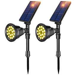 solar lights outdoor latest 18 led waterproof