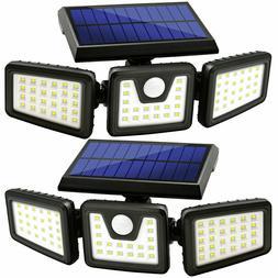 2 Pack Solar Lights Motion Sensor, Security LED Waterproof A