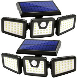 2Pcs Solar Lights, Waterproof Motion Sensor Adjustable heads