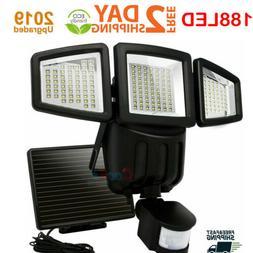 Solar Lights Outdoor Motion Sensor 188 LED 1200 Lumens Solar