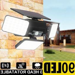 Motion Sensor Lights Outdoor, Super Bright 90 LED Lumens For