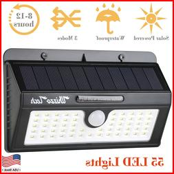 solar lights outdoor motion sensor security deck