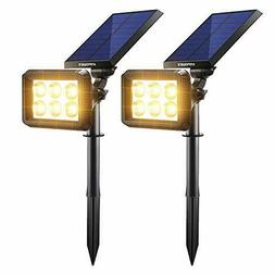 URPOWER Solar Lights Outdoor, Upgraded 2 Modes Solar Lights