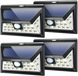 URPOWER Solar Lights Outdoor, Upgraded 3 Modes Wide Angle 4