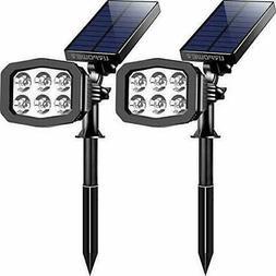 URPOWER Solar Lights Outdoor Upgraded 6 LED 2-in-1 Waterproo