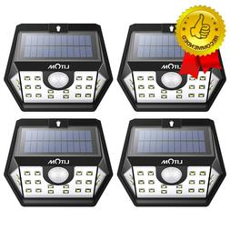 Solar Lights Outdoor Wireless Motion Sensor Lights White Lig
