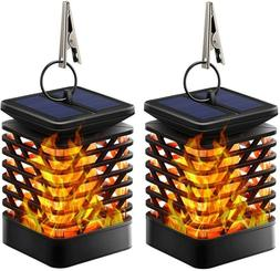 TomCare Solar Lights Solar Lanterns Dancing Flame Outdoor Ha