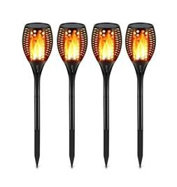 TomCare Solar Lights Upgraded, Waterproof Flickering Flames