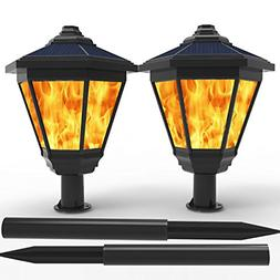 Solar Lights, Waterproof Flickering Flames Torches Outdoor L
