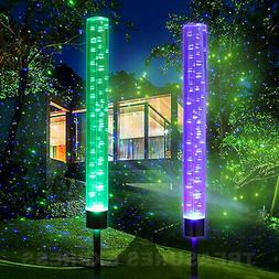 Solar Magical Bubble Lights Color Changing Garden Path Patio