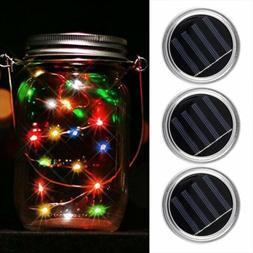 Solar Mason Jar Lid Insert LED Mason Jar Solar Light for Gla