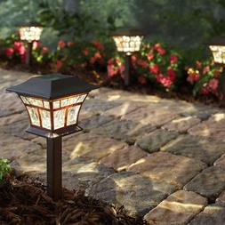 Hampton Bay Solar Mediterranean Bronze LED Landscape Path Li