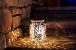 Solar Mercury Glass Mason Jar - 2 Pack Sunwind Silver Table