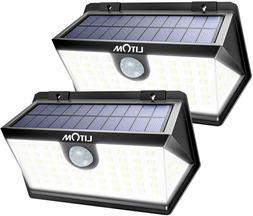 LITOM Solar Motion Lights Outdoor, Enhanced 63 LED Solar Lig
