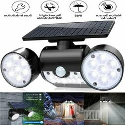 Solar Motion Sensor Detector Home Security Light Flood Guard