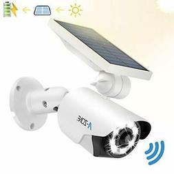 Solar Motion Sensor Light Outdoor - 800Lumens 8 LED Spotligh