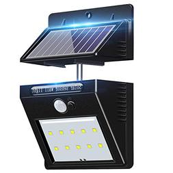 Outdoor Solar Motion Sensor Wall Light, WHATOOK Waterproof S